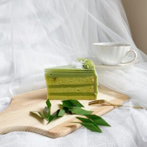 Pandan Layer Cake Slice