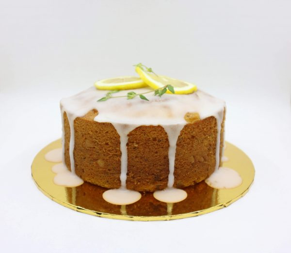 Front view of lemon pound cake