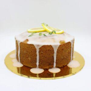 Front view of lemon pound cake
