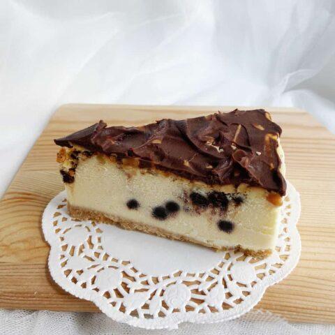Choco Chip Almond Cheesecake
