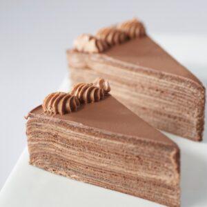 Chocolate Millecrepe Slice