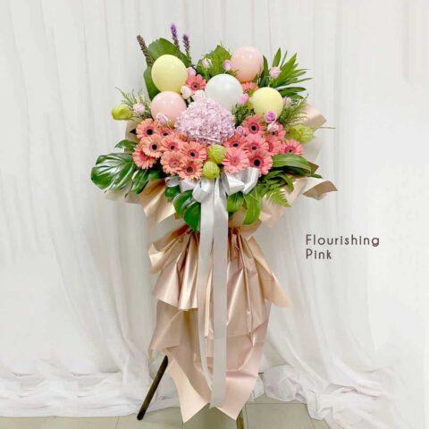 Flower Stand - Flourishing Pink