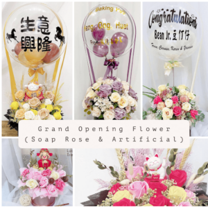 Grand Opening Flower (Soap and Artificial)