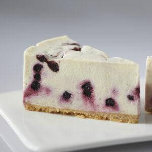 Blueberry White Chocolate Cheesecake Slice