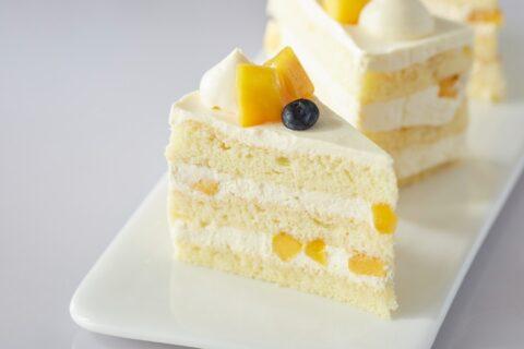 Mango Passion Fruit Cake Slice
